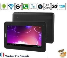 """Tablette PC TACTILE 3G 7"""" Pouces Android GPS GSM Phablet Smartphone HD 12GO"""