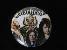 Motorhead-Group Shot With Warpig Heavy Metal-Pin Badge Button-80's Vintage-Rare