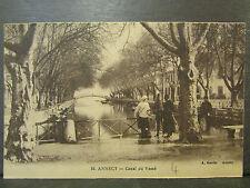 cpa 74 annecy canal du vassé animee