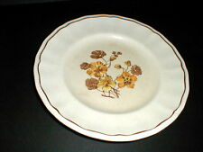 Kensington Staffords Yellow Brown Floral Dinner Plate/s
