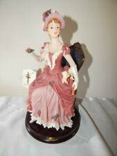 MONTEFIORI COLLECTION FIGURINE Woman Pink Dress White Gloves 11 inch Figure 2003