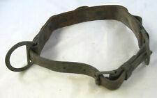 "Klein 34"" - 42"" Leather Lineman Climbing Work Belt w D-Rings & Tool Holder -used"