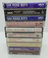 10 Country Music Cassette Tape Lot (Lot 106) Oak Ridge Boys / Reba McEntire