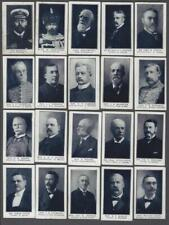 1912 ITC C64 Prominent Men of Canada Tobacco Cards Complete Set of 50