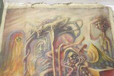 Vintage oil painting on canvas 42 cm X 39 cm