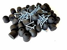 "Lot of 50 Rubber Bumper Feet 1"" Tall * 1"" Wide + screws & metal washers built-in"