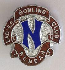 Nundah Ladies Bowling Club Badge Pin Rare Vintage (M16)