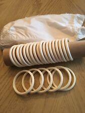 Twenty Four Lucite Bangle Bracelets Ivory Color Vintage  on Original Sleeve
