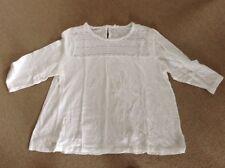 New Gap Woman Size XXL White Cotton 3/4 Sleeve Knit Top w Open Detail at Neck