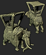 Tabletop Miniaturen Elefant Sultan Monster + Tiere für Dungeons & Dragons / AoS