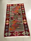 Antique Hand Knotted Dragon Tibetan Rug