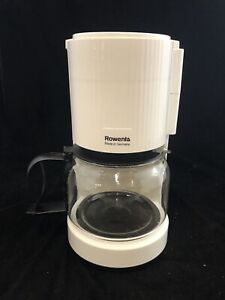 Vintage White Rowenta 10 Cup Coffee Maker Made In Germany, with mesh filter