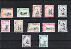 SWAZILAND 1961  DEFINITIVE SET MNH VF