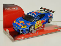 "Slot car SCX Scalextric 6294 Ferrari 360 GTC #73 ""Red Bull"""