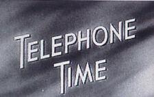 RARE DVD SET = TELEPHONE TIME (Rare 1950s Drama) w/case  (NOT FROM TV RERUNS)
