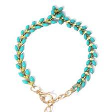Women Bracelet Anklet Green Color Stone Beads Animal Foot Chain Bracelet LC