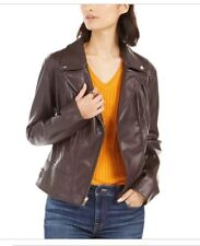 Tommy Hilfiger Women's Faux Leather Motorcycle Jacket Size M NWT