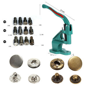 Spring Snap Tool Snap Setter Snap Plier Press Fastener Tool Hand Press Die Set Snap Button Tool for KAM and Metal Snap Fasteners