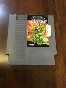 Teenage Mutant Ninja Turtles 2: The Arcade Game (Nintendo NES) Works, Authentic