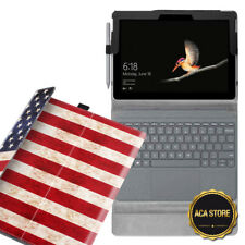 Leather Case For Microsoft Surface Go 10'' 2018 Tablet Cover American Flag