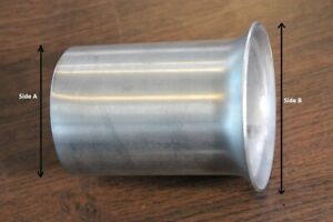 Flared End Exhaust Reducer Stainless Steel Connector Pipe Joiner Repair Tube