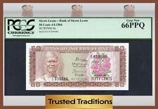 """Tt Pk 4e 1984 Sierra Leone 50 Cents """"President Stevens"""" Pcgs 66 Ppq Only 1 Known"""