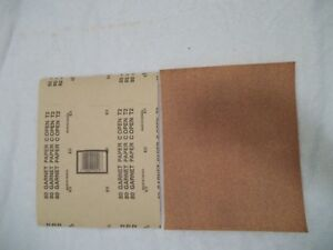 "80 Grit Garnet Sandpaper 9"" X 11"", 50 Sheets in Unopened Package"