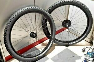 """2 x WHEELS 27.5"""" BACK AND FRONT WHEELS WITH MICHELIN FORCE AM TYRES"""