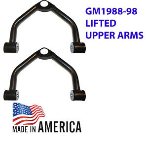 "L Upper Control Arms 2-3"" Lifts for Chevy 88-98 C1500 2WD ..w/out balljoints"