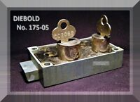 DIEBOLD 175-05 BANK SAFE DEPOSIT BOX LOCK with TWO FLAT KEYS - VINTAGE ITEM