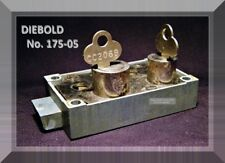 DIEBOLD 175-05 BANK SAFETY DEPOSIT BOX LOCK with TWO FLAT KEYS - VINTAGE ITEM