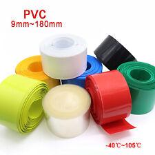 PVC Schrumpfschlauch Flachmaß 7mm~180mm für Paket Batterie - 8 Farben erhältlich