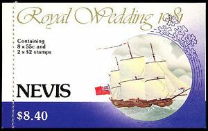Nevis 1981 SG#SB2 Royal Wedding Stamp Booklet MNH #C37472