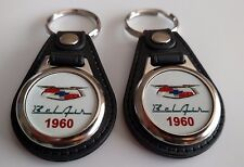 1960 Chevrolet Bel Air KEYCHAIN 2 PACK CLASSIC CAR FOB LOGO BELAIR KEY CHAIN