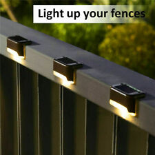 Solar Powered LED Deck Lights Outdoor Path Garden Stairs Step Fence Lamps