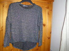 Black, silver and gold sparkle dipped hem lightweight jumper, ATMOSPHERE, size 8