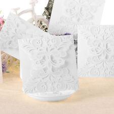 10pcs Invitation Cards Lace Flower Wedding Greeting Card Envelope Carved Model