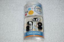 Creative EP-430 In-Ear Noise Isolating Headphones Earphones Earbud - Black/White