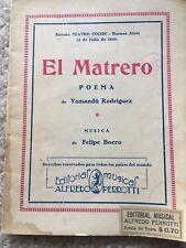 El Matrero Poema De Yamandu Rodriguez Y Musica De Felipe Boero