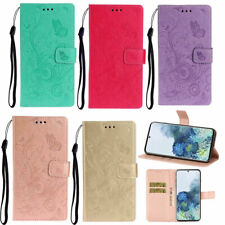 Butterfly Embossed Magnetic Leather Wallet Stand Case Cover For Various Phone