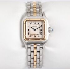 Cartier Lady Midsize Panthere 183949 Two Tone 18k & Steel Ivory Roman Dial Watch