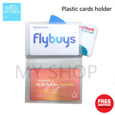 10 Page 20 Cards Plastic Card Holder -  Extra Cards Refill Pack - Wallet Insert