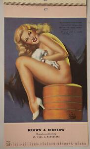 1948 Earl Moran Brown & Bigelow Complete 12 Page Spiral Bound Pin-Up Calendar