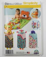 Simplicity Pattern S0615/1389 Carla Reiss Child's Nap Packs Sleeping Bags UNCUT