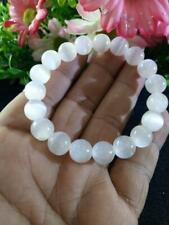 Selenite Natural Stone Bracelet Positive Energy Chakra Protection Reiki 10mm