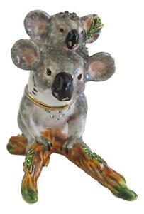 Koala with Joey Jewelled Trinket Box or Figurine approx 6cm High