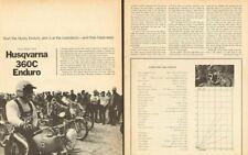 1971 Husqvarna 360C Enduro Motorcycle Road Test 5-Page Article