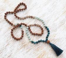 8MM108 Rudraksha Indian agate kont necklace Gemstone yoga Wristband Lucky mala