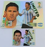 Panini Adrenalyn XL World Cup 2014 Set Messi limited edition XXL + normal size