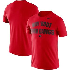 Georgia Bulldogs Mens Nike HOW 'BOUT THEM DAWGS Dri-Fit Cotton T-Shirt- XL & Lrg